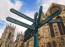 Poteau de signe de York photos libres de droits