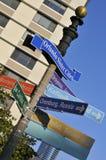 Poteau de signe directionnel d'Orlando Image libre de droits