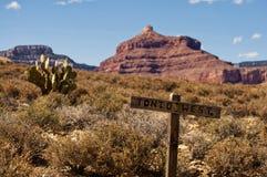 Poteau de signe en bois dans Grand Canyon Photo stock