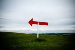 Poteau de signe laissé Photographie stock