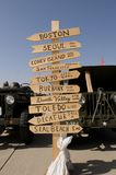Poteau de signe militaire Image libre de droits