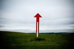 Poteau de signe vers le haut Photographie stock libre de droits