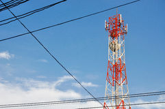Poteau de téléphone Image stock