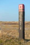 Poteau de Texel pour la mesure de l'eau images stock