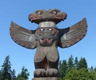 Poteau de totem chez Suquamish Photo libre de droits