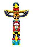 Poteau de totem coloré.  Vecteur EPS10. Images libres de droits