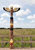 Poteau de totem de Miccosukee Photo stock