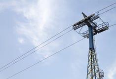 Poteau de tramway aérienne Photographie stock libre de droits