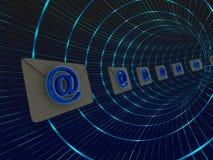 Poteau de tube d'email Photo libre de droits