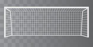 Poteau du football, but du football sur un fond transparent Vecteur Image stock