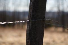 Poteau en bois image libre de droits