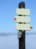 Poteau indicateur blanc Image libre de droits