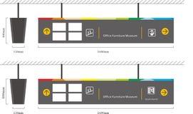 Poteau indicateur d'arcade photo libre de droits