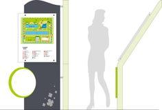 Poteau indicateur d'arcade Images libres de droits