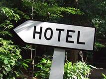 Poteau indicateur d'hôtel Photo libre de droits