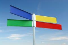 Poteau indicateur de couleur de Multway images stock