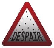 Poteau indicateur de désespoir illustration de vecteur
