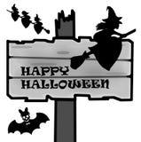 Poteau indicateur de Halloween Photos libres de droits