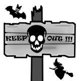 Poteau indicateur de Halloween Photos stock
