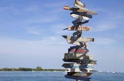Poteau indicateur de Key West photographie stock