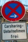 Poteau indicateur de stationnement interdit images libres de droits