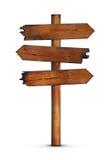 Poteau indicateur en bois blanc illustration libre de droits