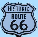 Poteau indicateur historique de Route 66 en Santa Monica california Image stock