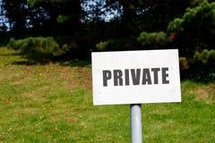 Poteau indicateur privé Photo stock