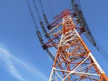 Poteau industriel de ligne électrique Photo libre de droits