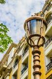 Poteau léger dans la ville Images stock