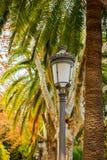 Poteau léger dans le jardin photographie stock