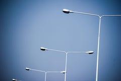 Poteau léger sur la route Photographie stock libre de droits