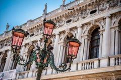 Poteau léger vénitien photo libre de droits