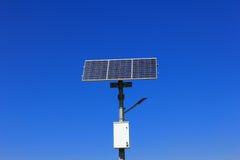 Poteau solaire de lampe Images stock