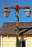 Poteau vieux San Diego de lampe de Noël Photos libres de droits