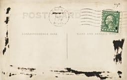 poteau Wyoming de carte vierge Photos libres de droits