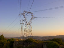 Poteaux électriques photos libres de droits