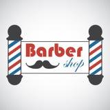 Poteaux démodés de Barber Shop de vintage Photographie stock libre de droits