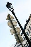 Poteaux de signalisation Images stock