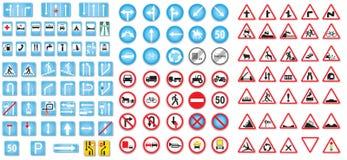 Poteaux de signalisation Photo libre de droits