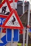 Poteaux de signalisation Photo stock
