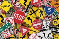 Poteaux de signalisation américains Photo stock