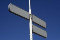 Poteaux de signalisation blanc Photographie stock libre de droits