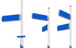 Poteaux de signalisation de série Image libre de droits