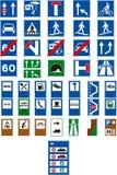 Poteaux de signalisation de vecteur illustration libre de droits