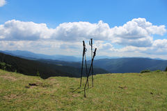 Poteaux de trekking Photos libres de droits