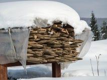 Poteaux en bois Image libre de droits