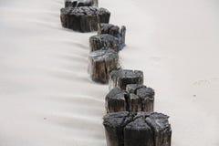 Poteaux en bois Image stock