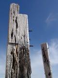 Poteaux en bois photographie stock