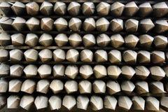 Poteaux en bois de frontière de sécurité Photo stock